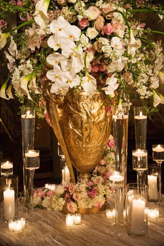 gold-urn-with-calla-lily-rose-orchid-and-peony-flowers