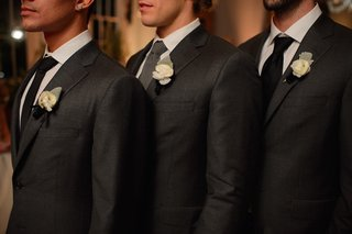 three-groomsmen-in-charcoal-suits-with-mismatched-ties