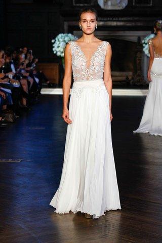 alon-livne-white-fall-2016-v-neck-lace-bodice-and-silk-chiffon-skirt-wedding-dress