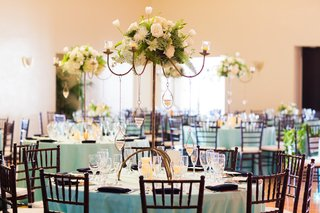wedding-reception-with-tiffany-blue-tablecloths-white-floral-arrangements