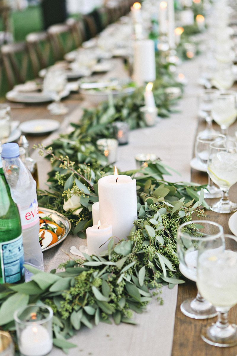 Green Garlands & Candles