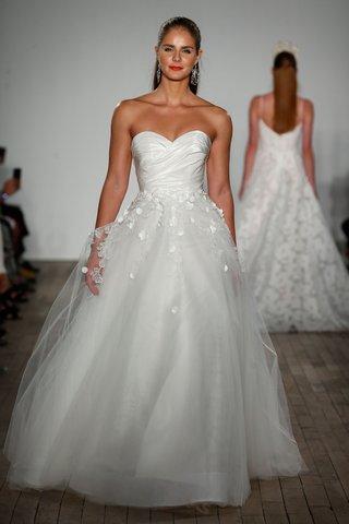 anne-barge-fall-2019-wedding-dress-alberti-strapless-ball-gown-tulle-skirt-draped-bodice-taffeta