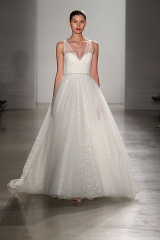 christos-fall-2016-textured-tulle-a-line-ball-gown-with-straps