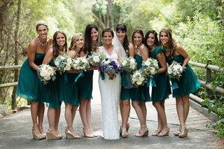 melissa-claire-egan-with-bridesmaids-in-short-emerald-dresses