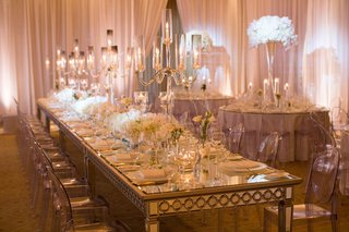 long-mirror-top-modern-tablescape-white-wedding-tall-candelabra
