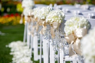 hydrangeas-tied-with-gold-ribbon-and-crystals