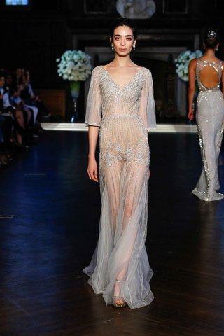 alon-livne-white-fall-2016-beaded-sheer-wedding-dress-with-mid-sleeves-and-v-neck