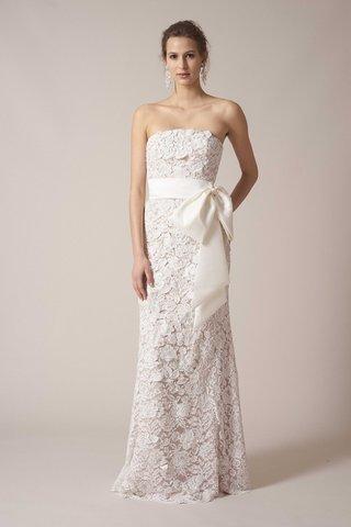 sachin-babi-spring-summer-2017-debut-bridal-collection-strapless-sheath-wedding-dress-lace-big-bow