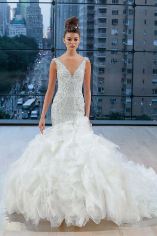 carmine-ines-di-santo-fall-2018-v-neck-wedding-dress-ruffle-skirt-trumpet-gown-drop-waist-wedding