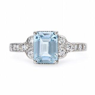 claire-pettibone-x-trumpet-horn-brigitte-engagement-ring-with-aquamarine