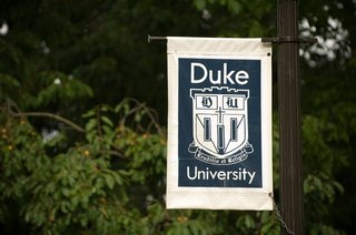 duke-university-sign-displayed-on-pole