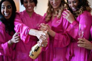 bridesmaid-robe-and-gold-armand-de-brignac