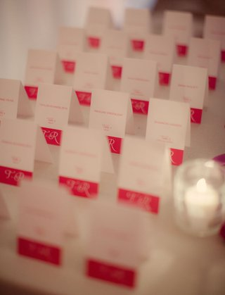 white-rectangular-card-with-pink-border-and-lettering