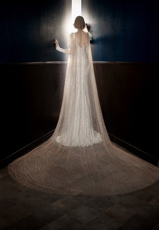 galia-lahav-spring-2018-nude-veil-crystal-star-dust-scattered-designer-whimsical-accessory