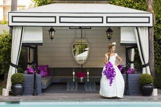 bride-at-viceroy-santa-monica-pool-cabana