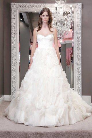 winnie-chlomin-2016-wedding-dress-with-beaded-spaghetti-straps-jewel-neckline-ruffle-a-line-skirt