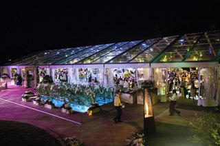 a-line-roof-plexiglas-tent-over-pool-of-country-club-at-night