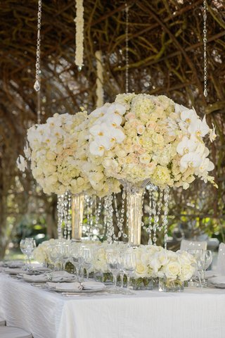 styled-shoot-with-white-orrchid-ivory-rose-and-hydrangea-arrangement