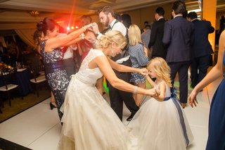 bride-flower-girl-dance-floor-white-dresses-sweet-precious-wedding-fun-southern-california