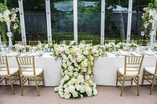 wedding-reception-in-a-glass-tent-structure-head-table-with-large-arrangement-of-white-hydrangeas