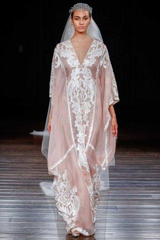 naeem-khan-bridal-spring-2017-cairo-tunic-wedding-dress-blush-silk-organza-caftan