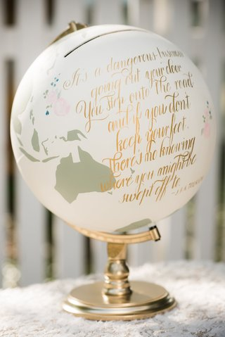 painted-globe-with-gold-calligraphy-quoting-tolkein