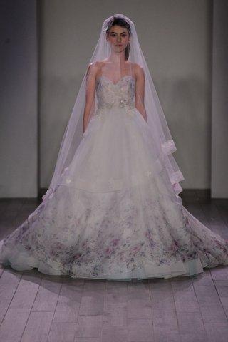 lazaro-wedding-dress-with-strapless-neckline-and-flower-print-bodice-and-skirt