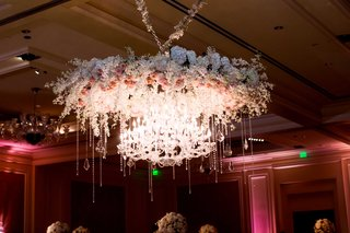 floral-chandelier-fixture-gems-crystals-classic-bella-flora-of-dallas-wedding-reception-grand-dance