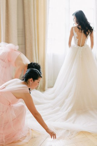 asian-bride-in-berta-wedding-gown-illusion-back-and-full-tulle-skirt