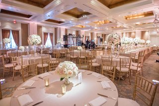 large-indoor-reception-space-round-and-long-tables-white-pink-tall-small-floral-dance-floor