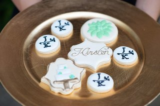 frosted-cookies-served-at-wedding-reception-with-brides-name-grooms-initials-wedding-cake