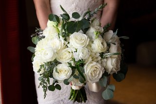 bridal-bouquet-with-white-roses-and-eucalyptus-leaves