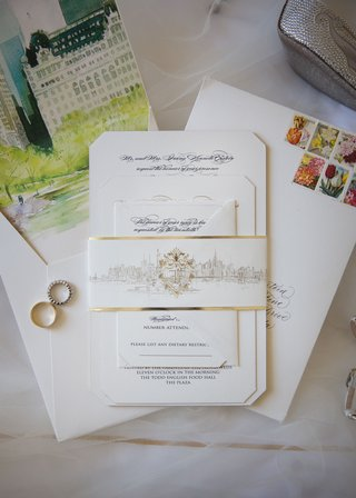 opulent-new-york-city-wedding-invitation-calligraphy-invite-with-gold-decorations-and-watercolor