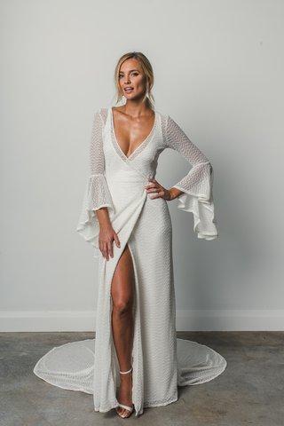arden-grace-loves-lace-elixir-wrap-dress-waterfall-sleeve-open-back-all-over-foil-print