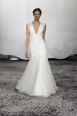 rivini-eleanore-satin-fit-and-flare-wedding-dress-with-a-v-neck-lace-and-tulle-skirt