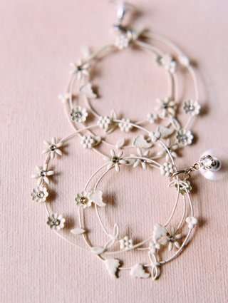 multi-hoop-earrings-with-little-white-flowers-for-wedding