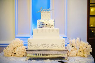 square-white-cake-with-metallic-details