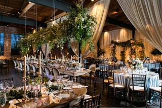 the-foundry-at-puritan-mill-wedding-champagne-drapery-lots-of-greenery