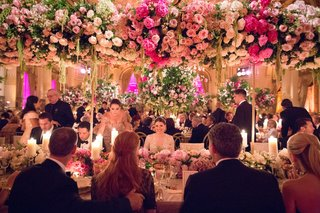 wedding-reception-at-the-plaza-hotel-head-table-family-tall-pink-white-centerpieces-greenery
