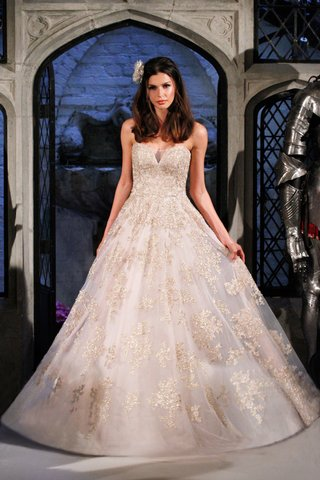 oleg-cassini-spring-2018-wedding-dress-a-line-blush-ball-gown-with-gold-bead-lace-applique-on-dress