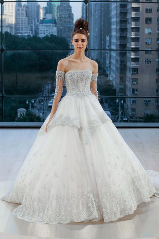 gracie-ines-di-santo-fall-2018-ball-gown-with-off-shoulder-detachable-sleeves-and-overskirt-ball