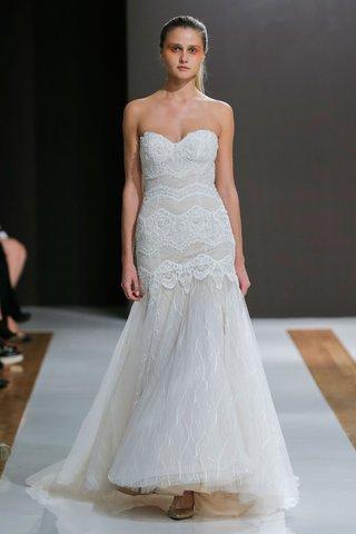 mark-zunino-spring-2018-wedding-dress-strapless-tiered-layer-lace-bodice-drop-waist-trumpet-gown