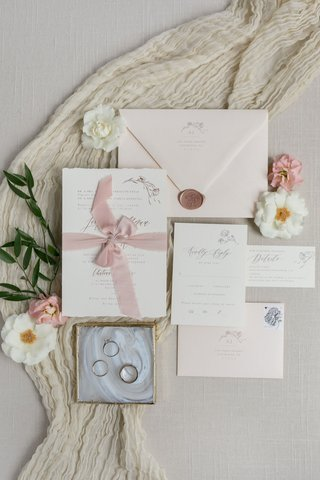 invitation-suite-with-blush-soft-pink-shades-blush-ribbon-rose-gold-wax-seal