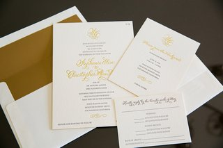 white-stationery-with-gold-envelope-liner-and-letterpress-print