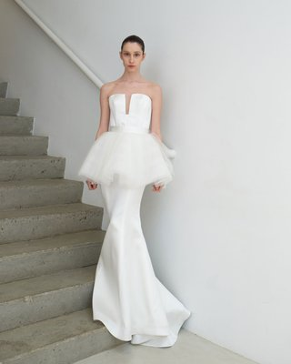 francesca-miranda-spring-2019-bridal-collection-ninette-white-wedding-dress-tutu-peplum-trumpet