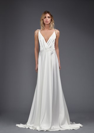 victoria-kyriakides-spring-2017-bo-v-neck-wrap-wedding-dress-silk-satin-spaghetti-straps-tied-sheath