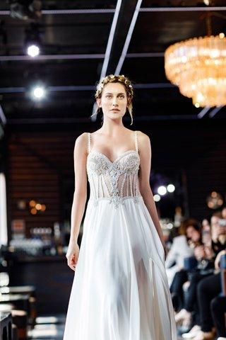 gemy-maalouf-2018-bridal-collection-wedding-dress-spaghetti-strap-jewel-bodice-sheer-corset-sheath