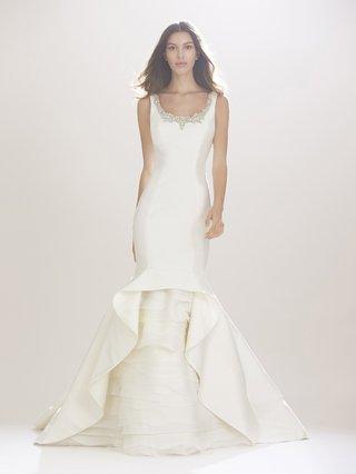 carolina-herrera-fall-2016-beaded-neckline-wedding-dress-and-ruffle-skirt