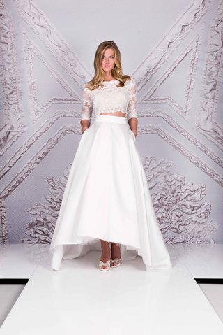 suzanne-neville-25th-anniversary-portrait-collection-2017-vision-high-low-ball-skirt-lace-3-4-sleeve