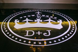 crown-and-airplane-monogram-on-reception-dance-floor